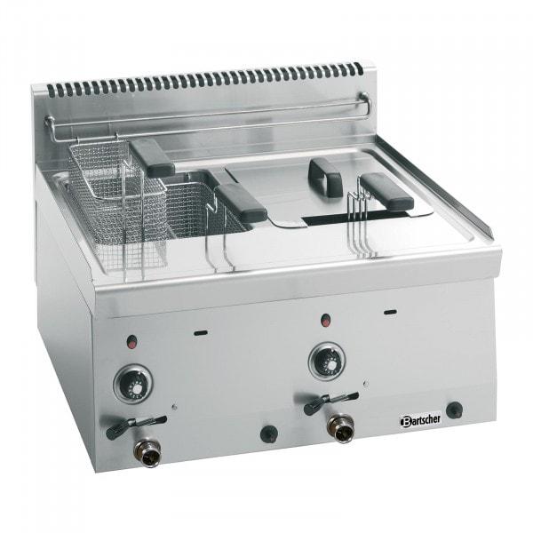 Bartscher Friteuse gaz 600, L600, 2x8L