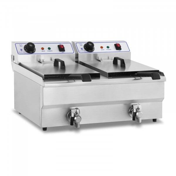 Friteuse électrique - 2 x 16 litres - 230 volts