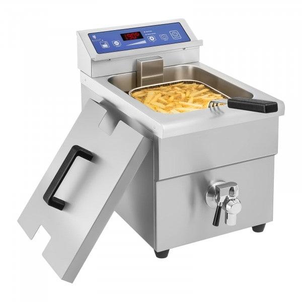 B-WARE Friteuse à induction - 1x 10 litres - 60 à 190°C