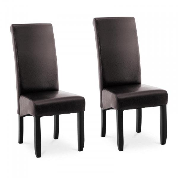 Occasion Chaise rembourrée - Lot de 2 - 180 kg max. - Surface d'assise de 44,5 x 44 cm - Coloris marron foncé