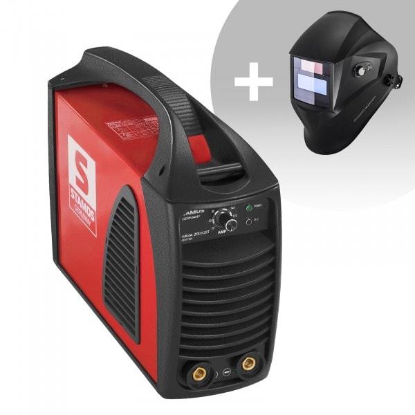 Set d'équipement de soudage Poste à souder à l'arc - 200A - Hot Start - IGBT + Masque de soudure - Opérator - EASY SERIES