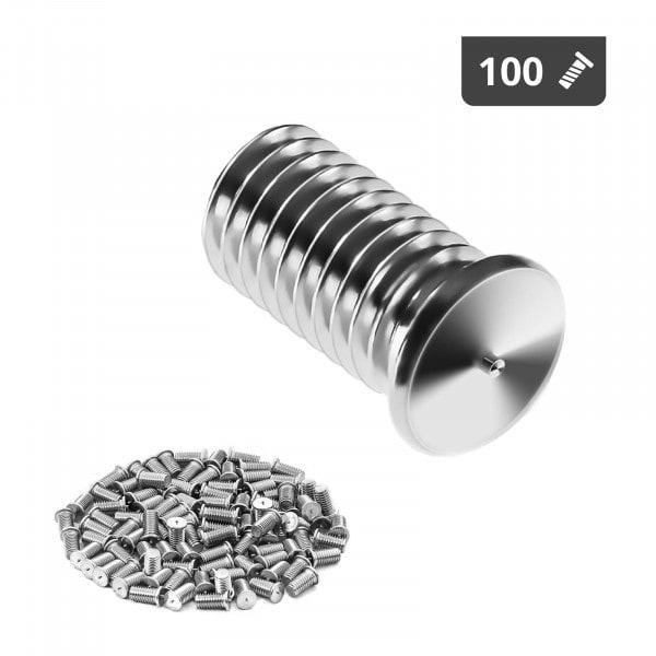Goujons de soudage - M8 - 16 mm - Acier inoxydable - 100 pièces