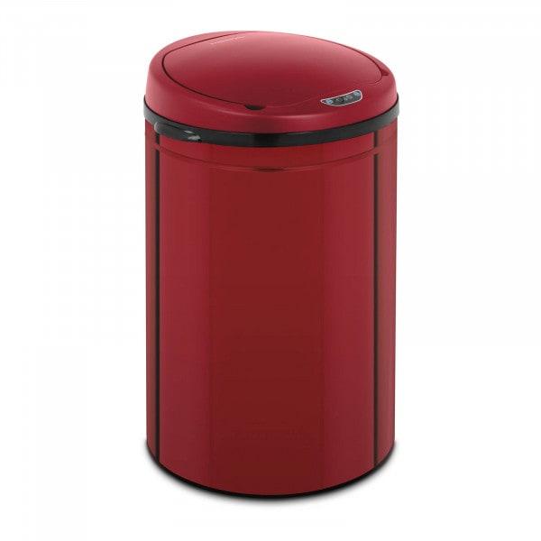 Occasion Poubelle automatique - 30 l - Coloris rouge - Avec récipient intérieur - Acier au carbone