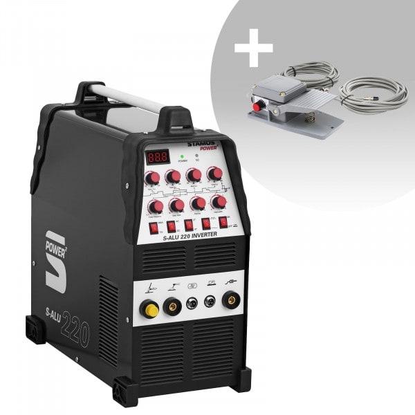 Set d'équipement de soudage Poste à souder aluminium - 200A - 230V- Temps 2/4 + Pédale - S-ALU-220