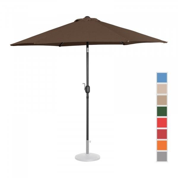 Occasion Parasol de terrasse - Marron - Hexagonal - Ø 270 cm - Inclinable