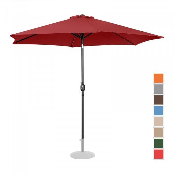 Occasion Parasol de terrasse - Bordeaux - Hexagonal - Ø 300 cm - Inclinable