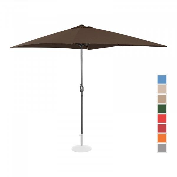 Occasion Parasol de terrasse - Marron - Rectangulaire - 200 x 300 cm