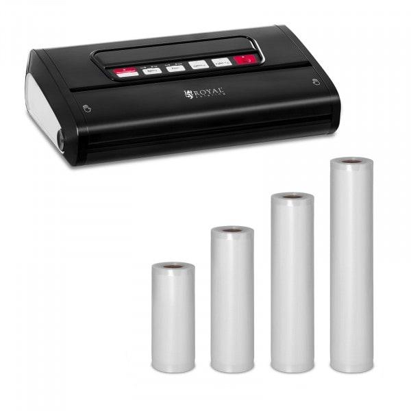 Kit machine sous vide avec 4 rouleaux d'emballages sous vide - 15 à 30 cm - ABS - 32 cm - Black Edition