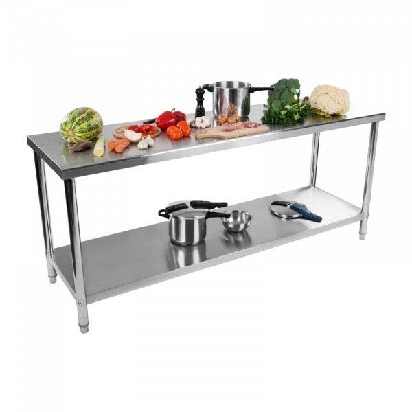 Occasion Table de travail inox - 200 x 60 cm - Capacité de charge de 195 kg