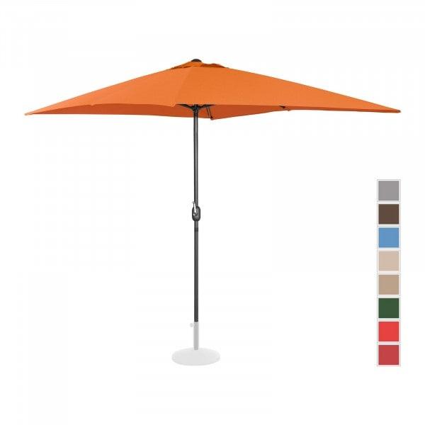 Occasion Parasol de terrasse - Orange - Rectangulaire - 200 x 300 cm