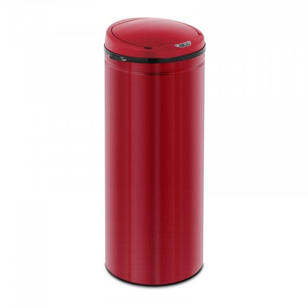 Occasion Poubelle automatique - 50 l - Coloris rouge - Avec récipient intérieur - Acier au carbone