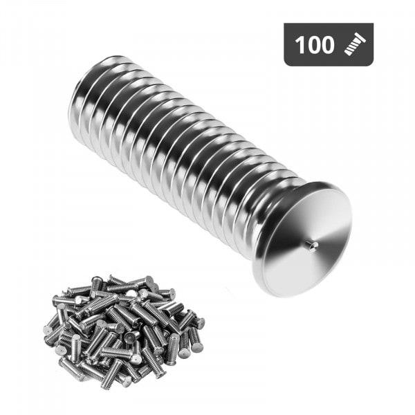 Goujons de soudage - M8 - 25 mm - Acier inoxydable - 100 pièces