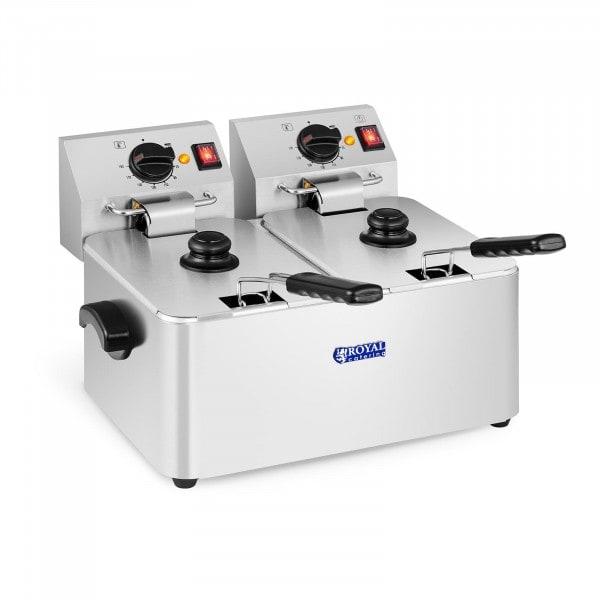 B-WARE Friteuse électrique - 2 x 8 litres - Thermostat EGO