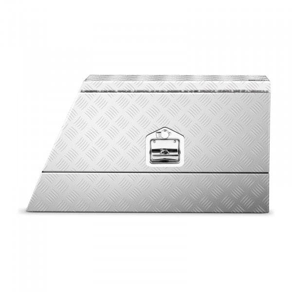 Occasion Coffre de rangement aluminium - 75 x 25 x 40 cm - 75 l - Avec serrure - Droit