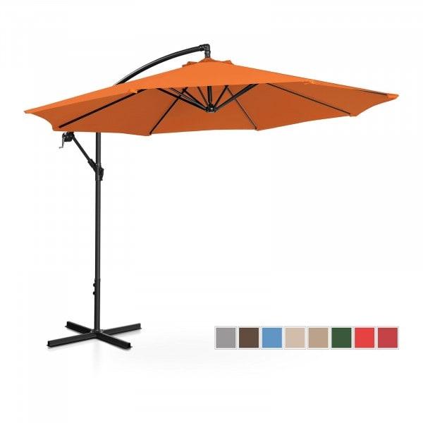 Occasion Parasol de jardin - orange - rond - Ø 300 cm - inclinable