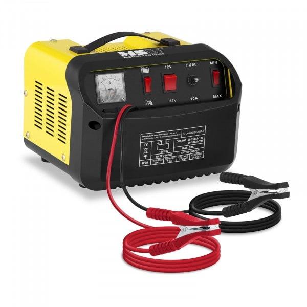 Chargeur de batterie voiture - aide au démarrage - 12/24 V - 20/30 A - Panneau de commande incliné