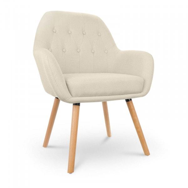 Occasion Chaise en tissu - 150 kg max. - Surface d'assise de 45 x 42 cm - Coloris beige