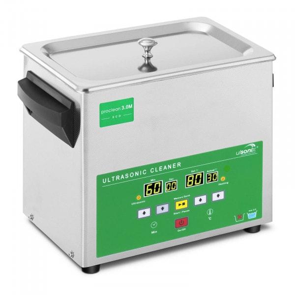 Nettoyeur ultrason - 3 litres - 80 W - Memory Quick Eco