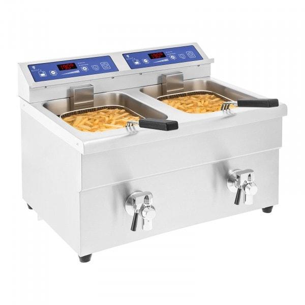 B-WARE Friteuse à induction - 2 x 10 litres - 60 à 190°C
