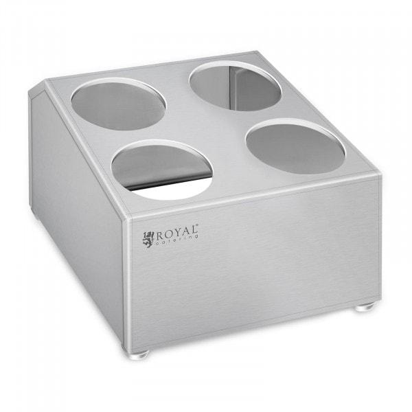 Range-couverts - acier inoxydable - pour 4 pots range-couverts