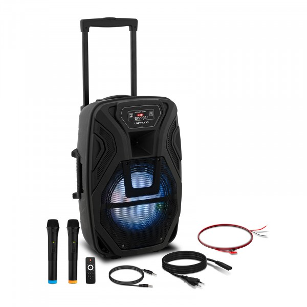 Occasion Enceinte active portable - 2 microphones - Télécommande - 40 W