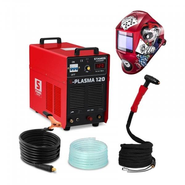 Set d'équipement de soudage Découpeur plasma - 120A - 400V + Masque de soudure – Pokerface – PROFESSIONAL SERIES