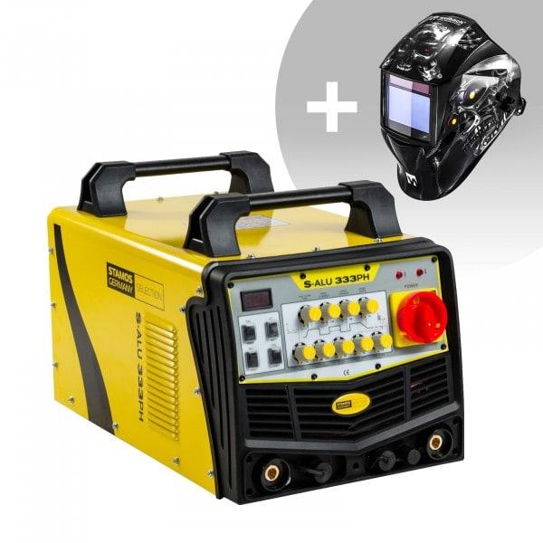 Set d'équipement de soudage Poste à souder aluminium - 333A - 400V - Puls + Masque de soudure – Metalator– EXPERT SERIES