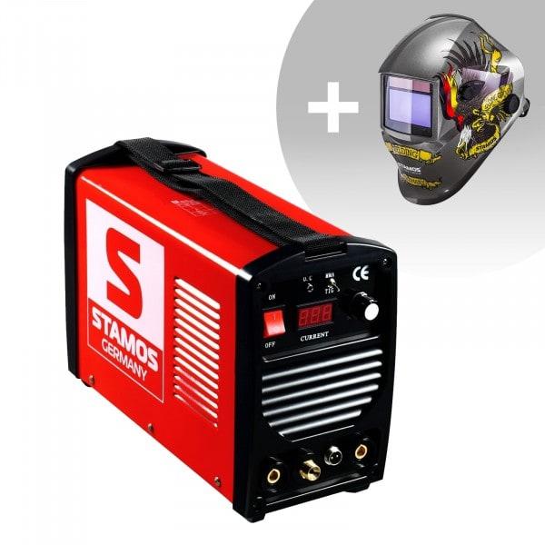 Set d'équipement de soudage Poste à souder TIG - 200A - 230V - portatif + Masque de soudure – Eagle Eye – ADVANCED SERIES