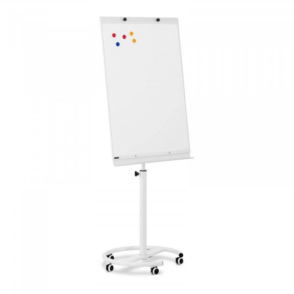 Occasion Chevalet de conférence - 70 x 100 cm - Magnétique - Hauteur réglable - 5 roulettes