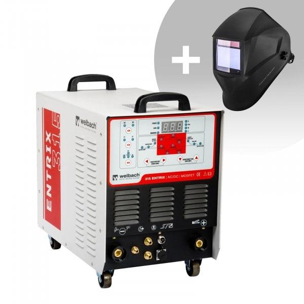 Set d'équipement de soudage Poste à souder aluminium - 315A - 400V - digital + Masque de soudure – BlackONE – EXPERT SERIES