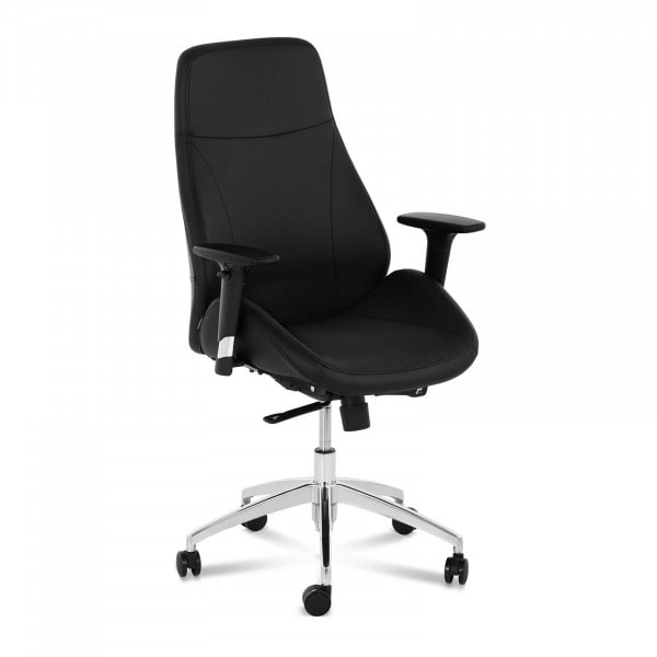 Occasion Chaise de bureau - Fauteuil de bureau - Cuir synthétique - Chromé - 150 kg