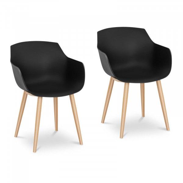 Occasion Chaise - Lot de 2 - 150 kg max. - Surface d'assise de 43 x 40 cm - Coloris noir