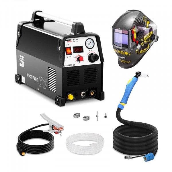 Set d'équipement de soudage Découpeur plasma - 50A - 230V - Pro + Masque de soudure – Eagle Eye – ADVANCED SERIES